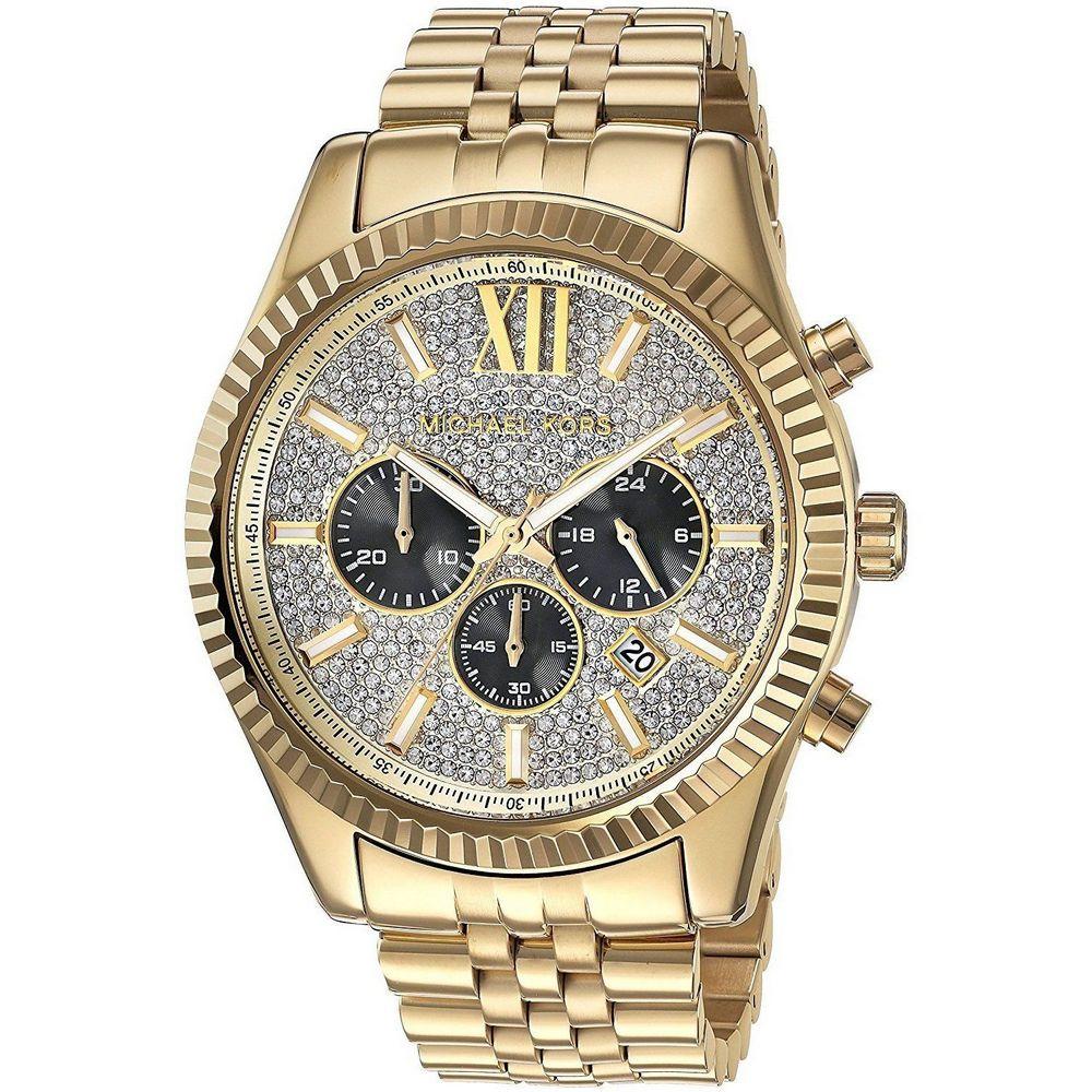 Men's Gold-Tone Lexington Chronograph Watch MK8494